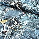 Stoff Jersey Baumwollmischung Digitaldruck Tim by Swafing Jeans 50cm x 160cm