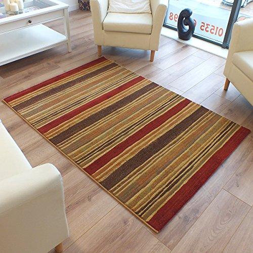 Galleria Rug 68-0946-3030 Stripe Beige, Sand, Terracotta 1.2m x 1.7m (4' x 5'6 approx)