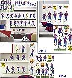 Unbekannt 38 Stück: Wandsticker _  FC Barcelona - Fußball Mannschaft - FCB - Fußballverein  - zum Spielen & als Deko - wiederverwendbar + selbstklebend - Aufkleber fü..