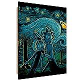 Feeby Science Fiction vom DDJVIGO wanddekoration - 50x70 cm - blau schwarz gelb