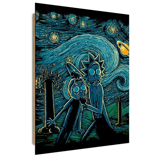 Feeby. Cuadro decoración - 1 Parte - 40x60 cm, Imagen Pintura Impresión Deco Panel,Starry Science - DDJVigo, ANIME, AZUL MARINO