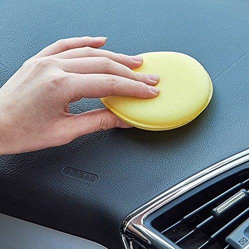 7 Qiilu 5pcs 3//4//5//6//7 inch Corredo dellAttrezzo Manuale del Rilievo di Lucidatura della Spugna di per la Cera del Polacco dellAuto