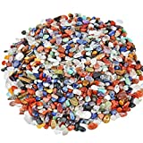 Shanxing Tumbled Chips Stones,Crushed Stone Tumblestone Crystals Healing Home Decoration,Assorted Stone(1 pound,about 460 gram)