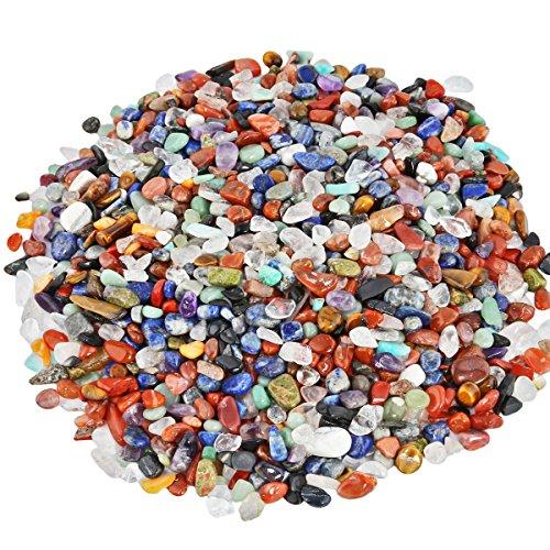 Shanxing Roulée Polies Pierres Précieuses et Minérales,Mini Irrégulière Cristal Guérison Décoration,Assorti des Pierres(environ 460 grams)