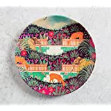 India Circus Floors Of Flourish 8 Inch Wall Plate And Snacks Platter