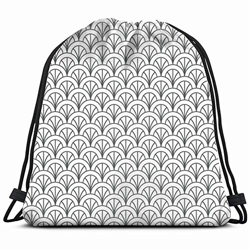 khgkhgfkgfk Flower Feather Asian Deco Vintage Drawstring Backpack Gym Sack Lightweight Bag Water Resistant Gym Backpack for Women&Men for Sports,Travelling,Hiking,Camping,Shopping Yoga -