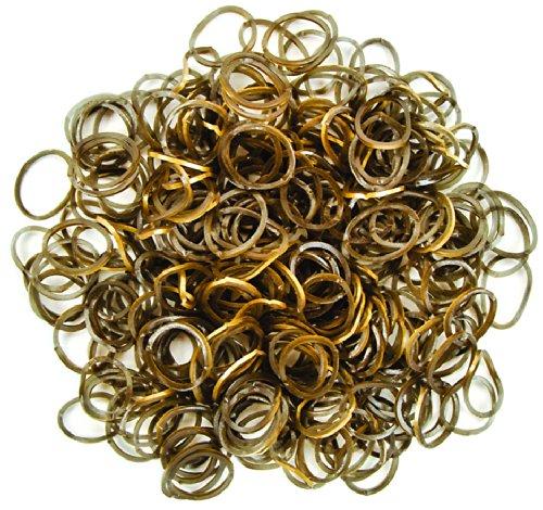 Darice Loom-Bänder/Armband-Schlaufen, 300 Stück + S-Clips, 12 Stück, sortiert gold