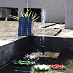 SIEGES 1.8W Solar Power Panel Submersible Water Pump Kits for Lawn Garden Pond Fountain Pool Water Cycle , Pond Fountain… 13