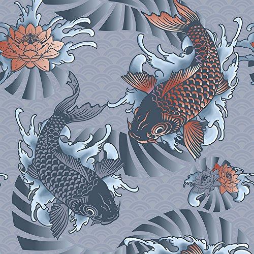 murando - Vlies Tapete - Deko Panel Fototapete - Wandtapete - Wand Deko - 10 m Tapetenrolle - Mustertapete - Wandtapete - modern design - Dekoration - Asien Koi p-A-0002-j-b