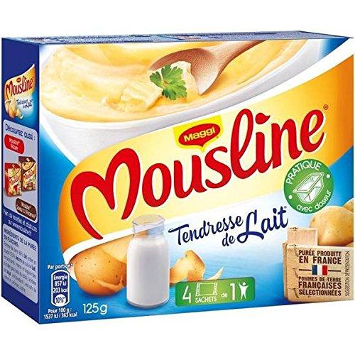 Maggi mousline purée tendresse de lait avec doseur 4 x 31. 5g soit 125g - ( Prix Unitaire ) - Envoi Rapide Et Soignée