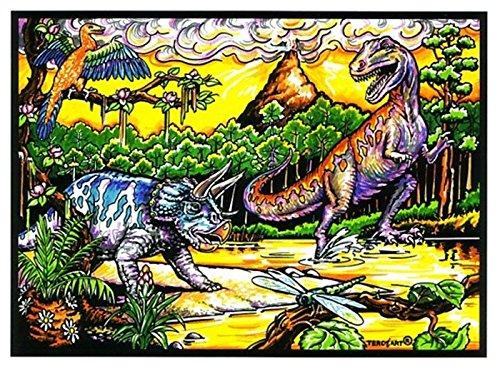 LAMINA PARA COLOREAR con caja de rotuladores. Dinosaurios III
