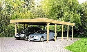 Skan bois carport friesland 557 x 708 cm pour clôture