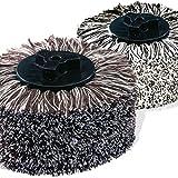 HOBERG 2-teiliges Baumwoll-Ersatzbürsten-Set für  Comfort Clean Schuhputzmaschine