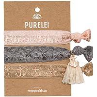 Purelei® Damen Armband (Elastisch & Größenverstellbar) Haargummi + Schmuck (Verschiedene Muster) Haarband Frauen