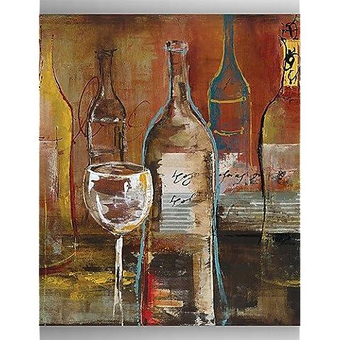 LLYY- dipinto a mano astratto bottiglia di