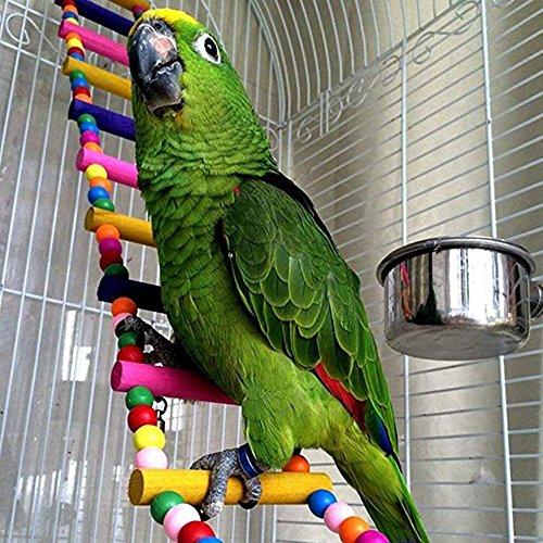 Smirk - Escalera Colgante para pájaros de Verano, Juguete para pájaros