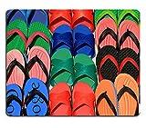 luxlady Gaming Mousepad Bild-ID: 27513453Set der bunten Flip Flops Display auf Thailand Street Markt