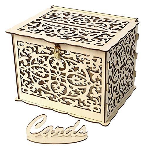 TOPmountain Kreative Hochzeitskarte Box Geschenk Home Decoration DIY mit Schloss Elegant (Gruß-karte Aufbewahrungsbox)