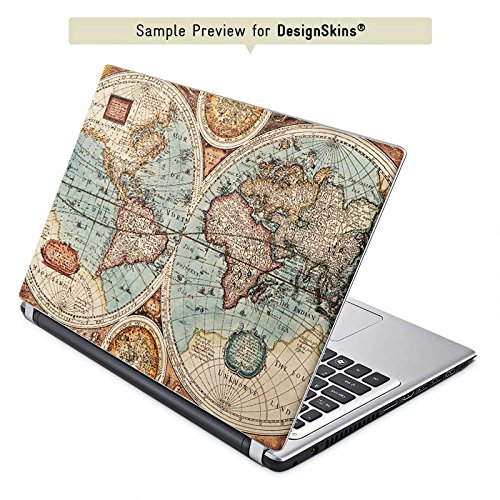Lenovo Yoga 900 Aufkleber Schutz Folie Design Sticker Skin Vintage Weltkarte Karte Map
