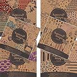 K7plus 6 x Scrapbooking Papier Motivblock mit je 30 Blättern Bedruckt Bastelpapier 180 Blätter 60 Designs (Set Auswahl 03)