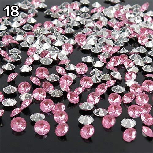 KaariFirefly Tisch-Konfetti für Hochzeiten, 4,5 mm, 2000 Stück Einheitsgröße silber, rosa (Rose Confetti)