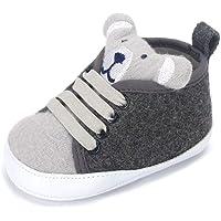 LACOFIA Baskets à Lacets bébé garçons Chaussures Premiers Pas de Marche Semelle Souple antidérapante pour bébé