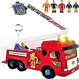 لعبة شاحنة اطفاء من فيورينيكا مزودة باضواء واصوات -4 صفارات انذار -سلم كبير قابل للطي -عجلات احتكاك قوية -عربة اطفاء بمحرك اط
