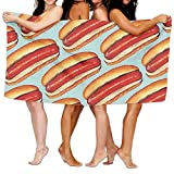 pants hats Hot Hotdogs Adult Soft Microfiber Printed Beach Towel for Swimming,Surf,Gym,Spa 80cm130cm