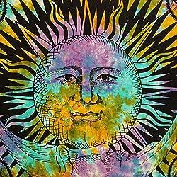 Handicrunch Colgante Marrón bohemia Tapiz Hippie Sun y luna Dorm Room Full Size 92X82