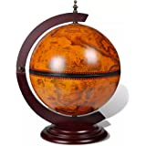 yorten Globusbar Minibar Globus Tischbar Weinschrank Hausbar Massivholz 38 x 33 x 48 cm (LxBxH) Dekoration für Zuhause…