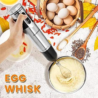 Stabmixer-Godmorn-Prierstab-4-in-1-600WEinstellbar-Geschwindigkeit-500ml-Aufsatz-700ml-Messbecher-Schneebesen-Stufenlose-Verstellung-fr-Suppen-Babynahrung-Milkshake