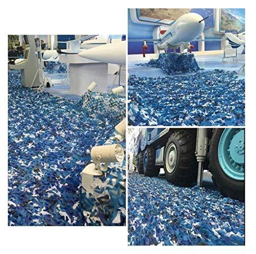 Dekoratives Tarnnetz seeblau, 3x3m Oxfordstoff Tarnnetz Carport Militär Tarnnetz Camping Jagdschießen versteckt Halloween Party Pool Sonnenschein Gartendekoration ( größe : 6*8M(19.7*26.2ft) )