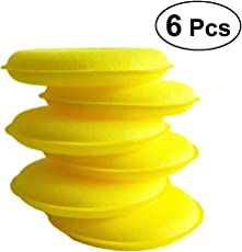Vosarea 6pcs Cars Waxing Polish Foam Sponge Applicator Pads for Cars Vehicle Glass (Yellow)
