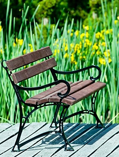 GOLD GARDEN G02010 Gartenbank Toskana aus nußfarbenem Fichtenholz 150 cm für 3 Personen