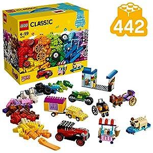 LEGO Classic - Ladrillos sobre Ruedas, Juguete de Construcción Educativo y Divertido para Niñas y Niños de más de 4 Años con Piezas y Ruedas (10715)