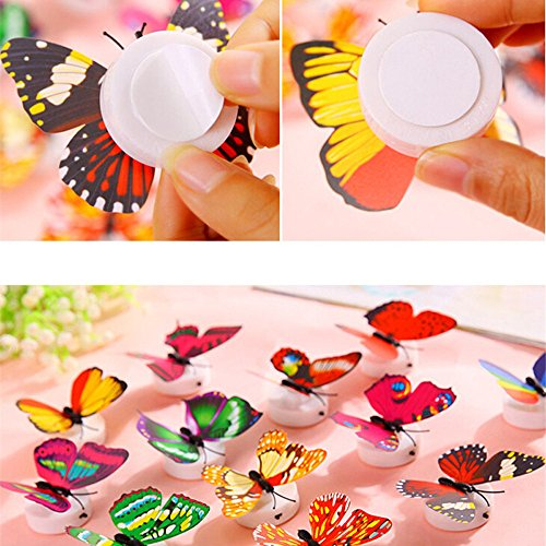 Modaworld 1 Pcs Pegatinas de Pared Mariposa LED Luces Adhesivos de Pared...