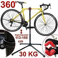 Vibrant Globe Bicicleta Bicicleta Ajustable Plegable Reparación Hogar Mecánico Mantenimiento Soporte ...