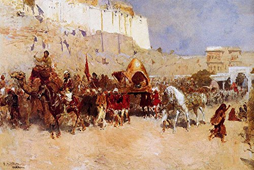 Das Museum Outlet–Edwin Lord Weeks–Hochzeit Prozession Jodhpur–Poster Print Online (61x 45,7cm)