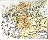 Historische Karte: Deutschland Eisenbahn Netz [Eisenbahnstreckenkarte] 1862 und der angrenzenden Länder