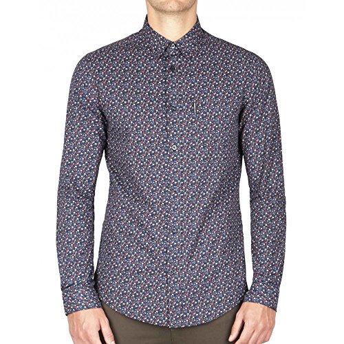 ben-sherman-chemise-ben-sherman-micro-floral-s-bleu