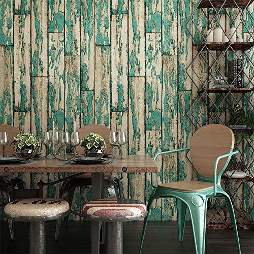 Weaeo Fransen Wallpaper Der Alten Chinesischen Tee Gebäude Hotel Clothing Store Wasserdicht Tapete Retro Blau (Alter Tee)