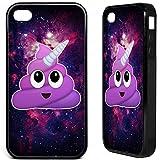 iPhone 4 4S Poop Emoji Einhorn gummi Handyhülle Emoticon komisch niedlich pizza Weltraum phone case