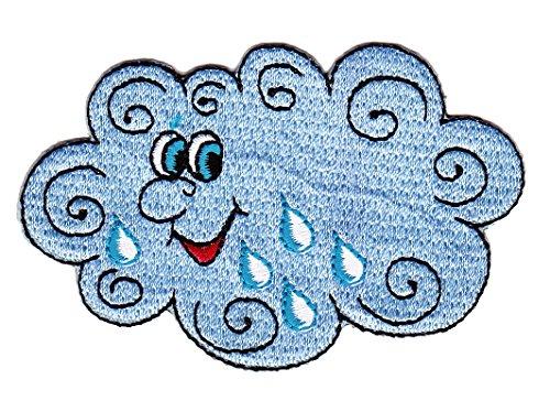 Wolke Regenwolke Aufnäher Bügelbild Aufbügler Iron on Patches Applikation