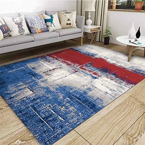 Aishankra Einfacher Teppich Tinte-Spritzender Kunst-Bereichs-Wolldecken Wohnzimmer-Kaffee-Tabellen-Schlafzimmer-Nachttisch-Computer-Sitz-Stuhl-Kissen,6,6'6''X9'8''/200X300CM (8 Ft Runde Bereich Teppich)