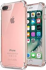 "iPhone 8 Plus / 7 Plus Hülle, Jenuos Handyhülle Transparent Silikon für iPhone 7 Plus / 8 Plus Schutzhülle Crystal Clear Durchsichtige Hülle TPU Bumper Case für iPhone 8 Plus 5.5"" und iPhone 7 Plus 5.5"" mit Anti-Rutsch Kratzfest - Transparent (7P-TPU-CL)"
