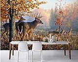 Weaeo Benutzerdefinierte Mural 3D Fototapete Wohnzimmer Blume Rattan Waldweg Decor Malerei 3D Wandbilder Wallpaper Für Wände 3D-400X280Cm