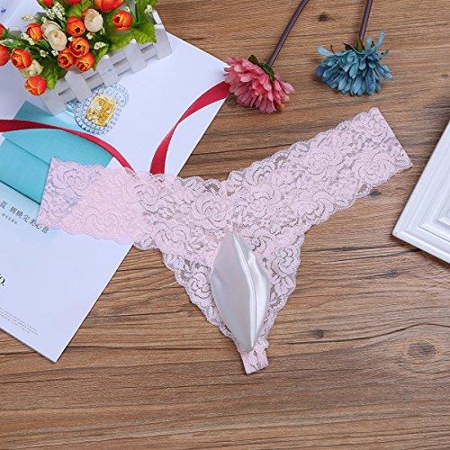 CHICTRY Herren Slip Mini Slip Dessous Reizwäsche Unterhosen Briefs String Unterwäsche Briefs mit Penishülle M-XL Rosa