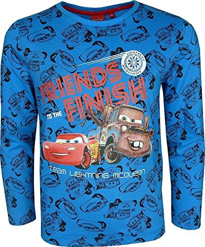 Niños Disney Cars Lightning McQueen Camiseta de manga larga / T-Shirt Azul