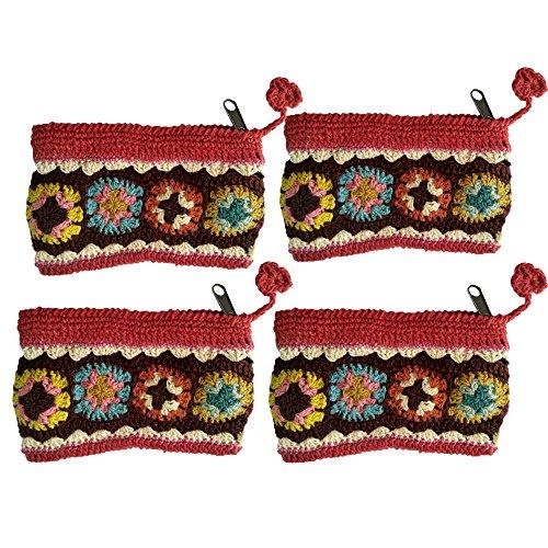 Rosa cotone borsa filo di moneta del regalo degli accessori rosso