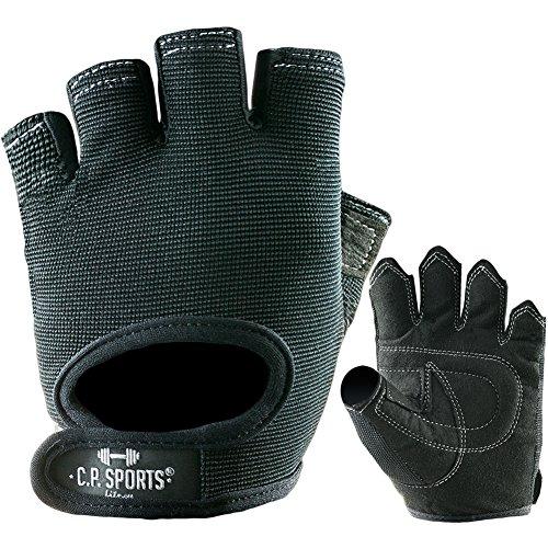 Power-Handschuh Komfort Gr.S F4-1 / Sport- , Fitness- , Freizeit-Handschuhe / Farbe: schwarz / Für Männer, Frauen, Damen, Herren